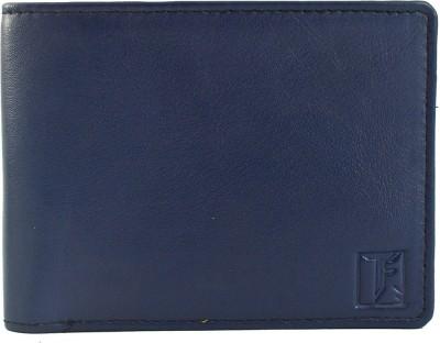 TOFFIL Men Blue Genuine Leather Wallet 10 Card Slots