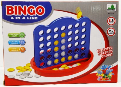 SSD Connect 4 In A Row Line Creative Board Pattern Game- Portable 2 Player Game Board Game