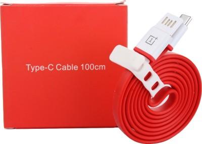 Tech Hoppers SA_AC_16 1 m Micro USB Cable Compatible with Type C Usb Cable, Red Tech Hoppers Mobile Cables