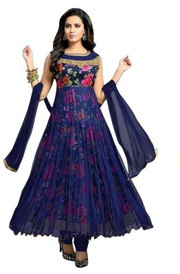 Active Georgette Embroidered Semi-stitched Salwar Suit Dupatta Material