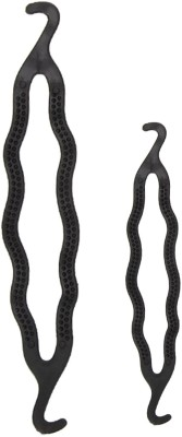 Out Of Box Hair Styling Clip Bun/Juda Maker Braid Tool 1 Big Size 1 Small Size Bun(Black)  available at flipkart for Rs.109