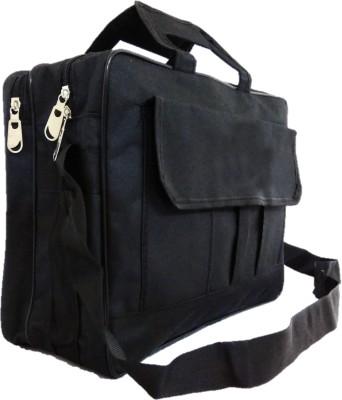 DARA 15 inch Expandable Laptop Messenger Bag Black