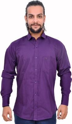 Gloria Shirts Men's Solid Casual Purple Shirt