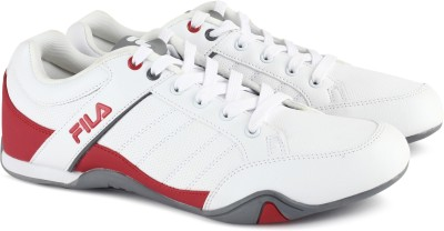 Fila BAXTER Canvas Shoes For Men(White, Whtrd flipkart