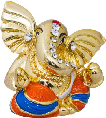 Gods & Gifts Premium Gold Plated Lord Ganesha Statue Showpiece  -  5 cm(Polyresin, Gold)  available at flipkart for Rs.595