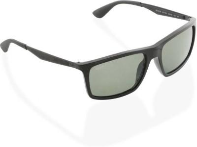 507f1f1e8abcb 5% OFF on Ray-Ban Rectangular Sunglasses(Green) on Flipkart ...