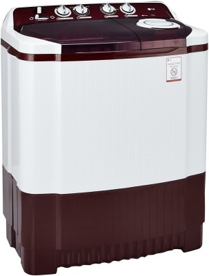 LG 7Kg Top Load Semi Automatic Washing Machine Burgundy (P8053R3SA, Burgundy)