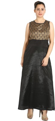Aatmik Women Maxi Black Dress