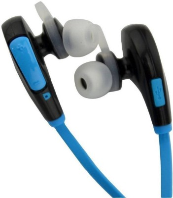 EWELL Jogger Wireless with 4.1 & Up to 8 Hours of Play Time Headset with Mic (Color May Vary, On the Ear) Bluetooth Headset with Mic(sky blue, In the Ear)