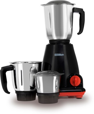 Billion Fast Grind MG122 500 W Mixer Grinder (Black, 3 Jars)