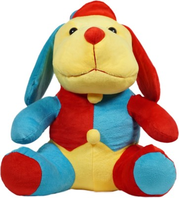Ultra Cuddly Droopy Dog Plush Stuffed Toy   13 inch Red, Blue Ultra Soft Toys