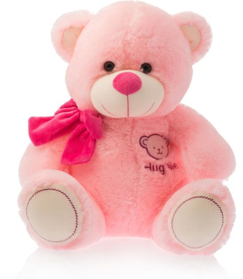 Dimpy Stuff Dimpy Bear W/Hug Me Emb. Pink  - 50 cm(Red)  available at flipkart for Rs.839