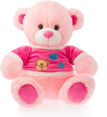 Dimpy Stuff Dimpy Bear W/T-Shirt Pink  - 40 cm(Red)  available at flipkart for Rs.559