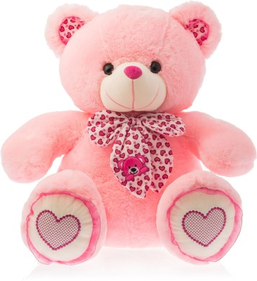 Dimpy Stuff Dimpy Bear W/Scarf- Pink  - 48 cm(Red)  available at flipkart for Rs.839