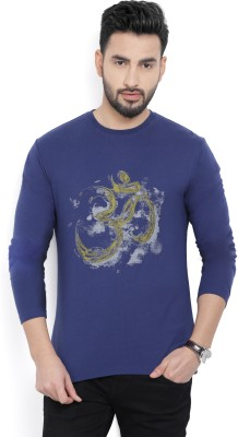 Billion PerfectFit Graphic Print Men Round or Crew Dark Blue T-Shirt at flipkart