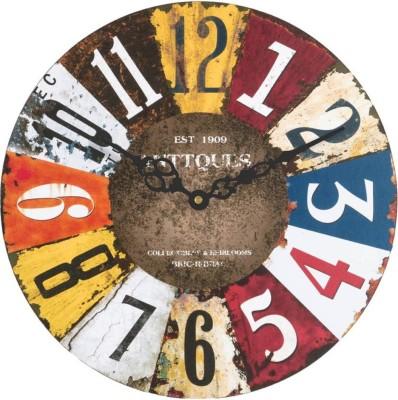 Sokariya Analog Wall Clock(Multicolor, With Glass)