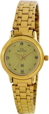 Maxima 07157CMLY Analog Gold Dial Women's Watch