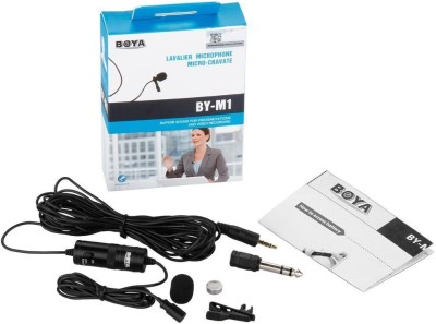 """boya By-m1 3.5mm Electret Condenser Microphone with 1/4\"""" Adapter for Smartphones, Dslr, Camera Microphone"""