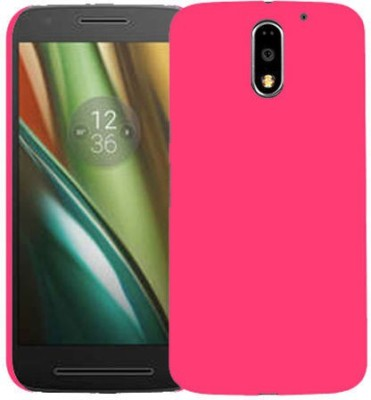 Top Grade Back Cover for Motorola Moto E3 Power(Pink, Grip Case, Plastic)