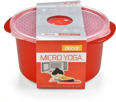 Buy decor microsafe oblong 1 6 l 1600 ml plastic grocery for Decor 900ml container