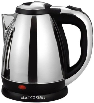 Emmquor 1.8 L Stainless Steel Quick ikitz Heating Tea - Water Boiler Heater Pot Electric Kettle(1.8 L, chrome)