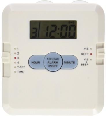 OVO 4 Alarm Pill Box w/ Vibration Reminder 4 Alarm Pill Box w/ Vibration Reminder Digital Pill Box and Organizer(White)