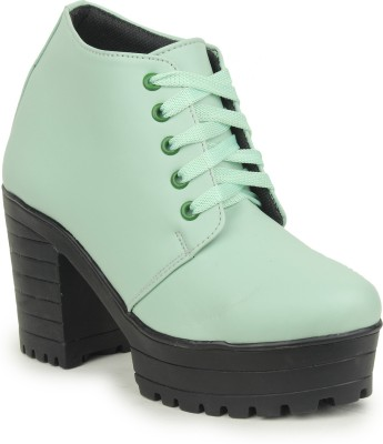 Moonwalk Boots For Women(Green)