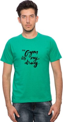 Clifton Printed Men's Round Neck Dark Green T-Shirt