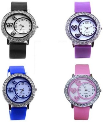 INDIUM NEW LOOK PS0503PS WITH DESIGN OF LOVE DIL BUTTERFLY AND MUCH OTHER DESIGN FULL SET Watch  - For Girls   Watches  (INDIUM)