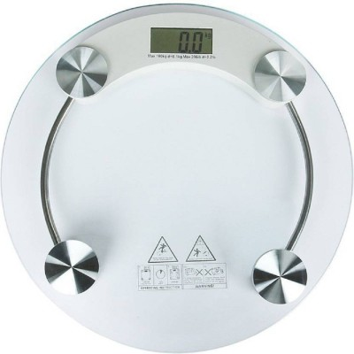 J H TRADERS Digital 8MM Thick Glass Weighing Scale (White) Weighing Scale(White)  available at flipkart for Rs.570