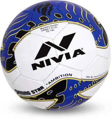 Nivia Shining Star Ambition Football - Size: 5(Blue, White)  available at flipkart for Rs.899
