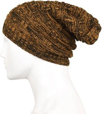 Bizarro.in Checkered, Woven Skull Beanies Slouchy Winter Woolen Cap Cap