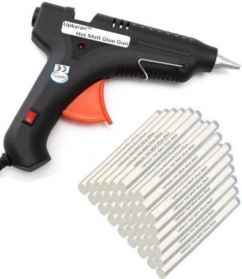 Upkaran Hot Melt Glue Gun kit 100 Watt On/Off With 40 Glue Sticks For Furniture, Decorations & Bonding Artificial Flowers Standard Temperature Corded Glue Gun