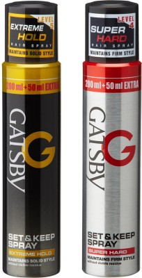 Gatsby Set & Keep Hair Spray Extreme Hold with Super Hard Hair Spray Spray(400 ml)