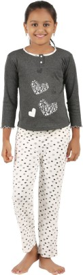 Sand Beach Girl's Casual T-shirt Pant(Grey)