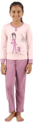 Sand Beach Girl's Casual T-shirt Pant(Pink)