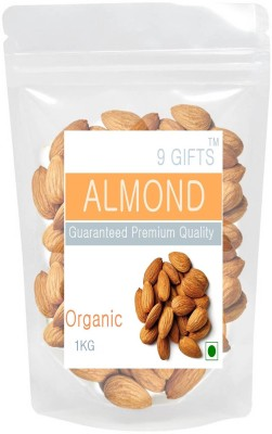 9 GIFTS California Almonds 1 KG Almonds(1 kg, Vacuum Pack)  available at flipkart for Rs.990