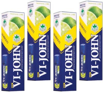 Vi-John Shaving Cream Tropical Lime Pack of 8(125 g)