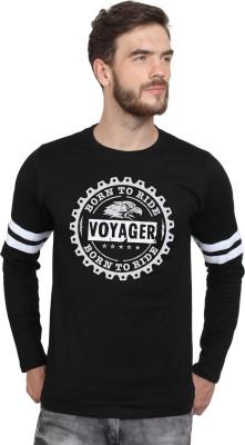 HUSTLE ROADIES Printed Men Round Neck Black T-Shirt