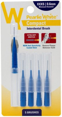 pearlie white Compact Interdental Brush XXXS 0.6mm Pack Of 5s Ultra Soft Toothbrush(Pack of 5)
