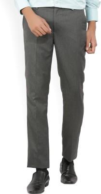 Indigo Nation Slim Fit Men's Grey Trousers