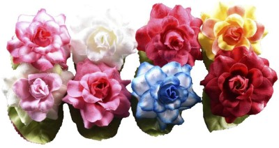 spazies SPAZIES Red, Blue, White, Green, Orange, Yellow Assorted Artificial Flower  with Pot(20 inch, Pack of 8)  available at flipkart for Rs.199