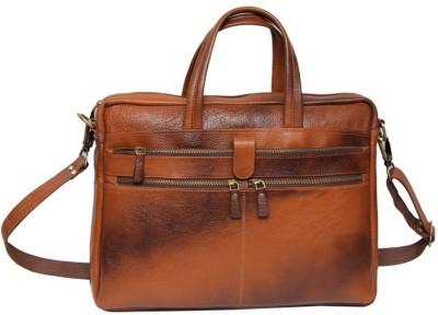 706dfee18ce 17% OFF on bayed Lazmo plus 3 Medium Briefcase - For Men(tan) on Flipkart