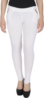 Rzlecort White Jegging Solid Rzlecort Women's Jeggings