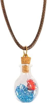 Men Style Vintage Style Double Ring Pendant Adjustable Leather Cord Locket Leather, Alloy Pendant Set