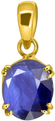Tejvij and sons 6.25 Ratti Original Blue Sapphire Neelam Ashthadhatu Pendent for Men & Women Gold Plated Gold-plated Sapphire Metal Pendant