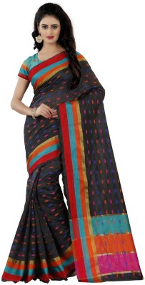 Trendz Style Woven Fashion Cotton Blend Saree Multicolor