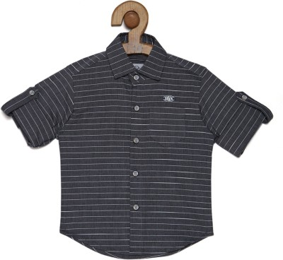 OKS mini Baby Boys Striped Casual Spread Shirt