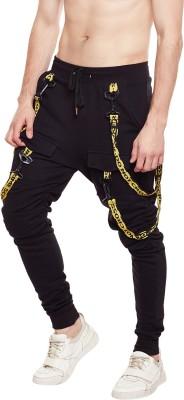 Fugazee Solid Men Black Track Pants