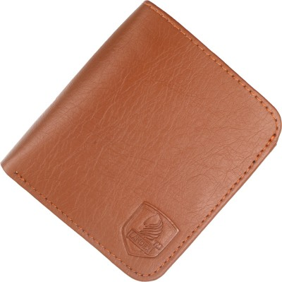 LANDER Men Tan Genuine Leather Wallet 9 Card Slots
